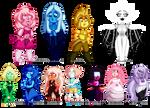 Steven Universe Pixel Chibis