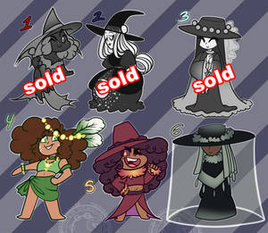 Themed Chibi Witch Collab Adopts | OPEN