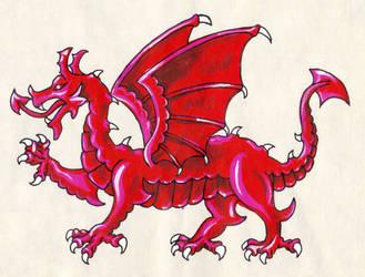 Heraldic Dragon by Clisair