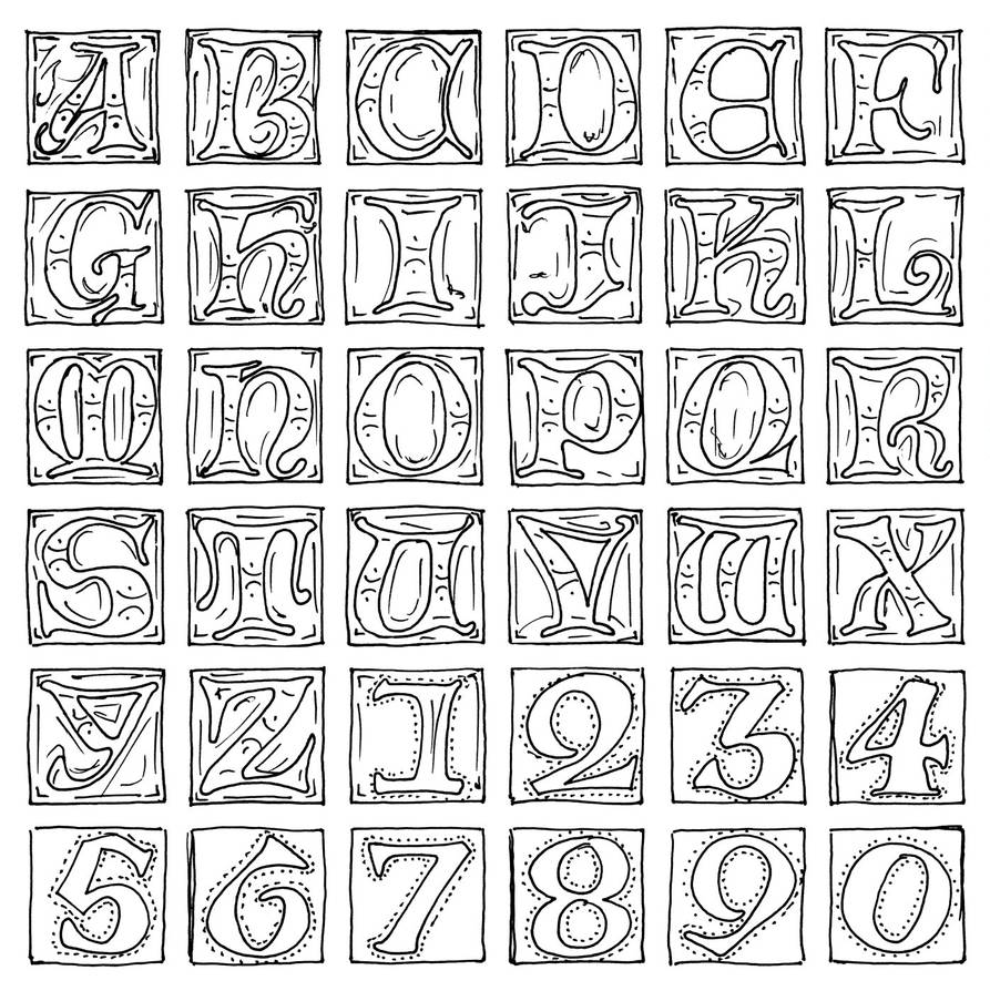 Sketch for Illuminated Uncials by Clisair