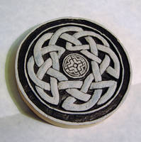 Carved Celtic Tree Of Life under painting