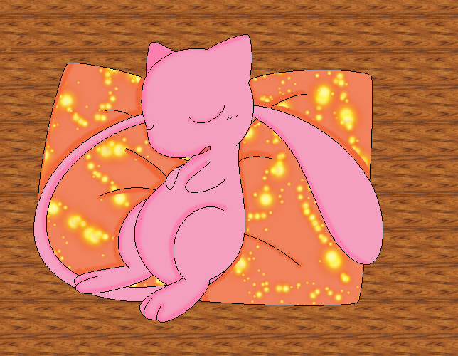 .:Sleeping Mew:. by deidaraXterra