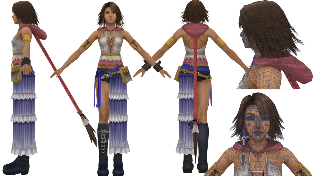 Final Fantasy X-2 HD Remaster Yuna WIP by minmode
