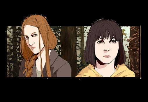 Mia and Kim - Sour Marmalade Art
