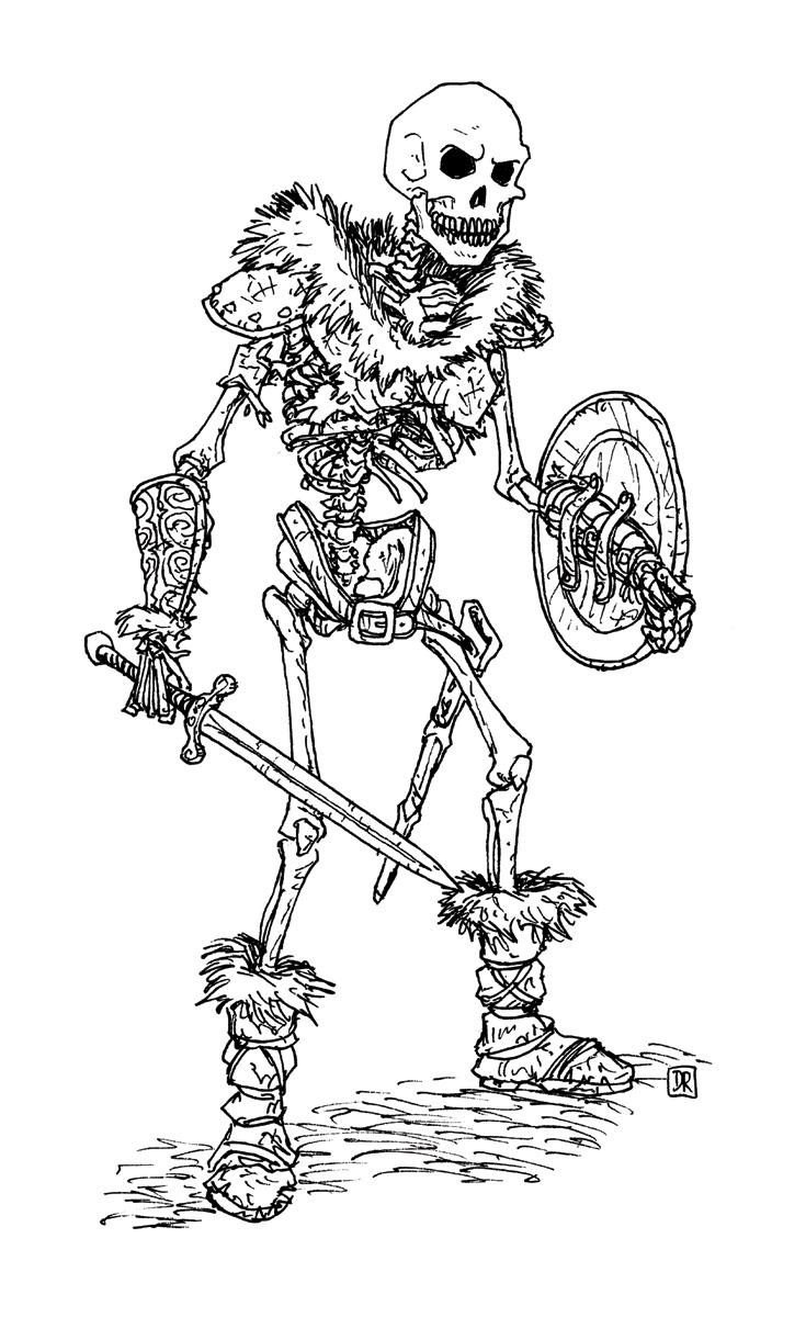 Skeleton Warrior by Domigorgon