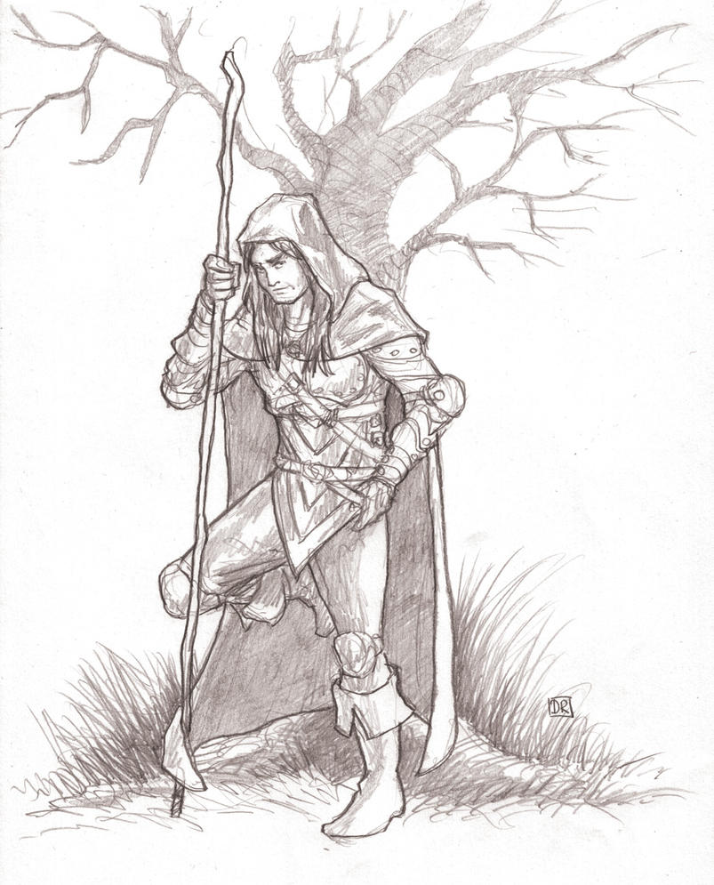 D Line Drawings Jobs : Druid sketch by domigorgon on deviantart