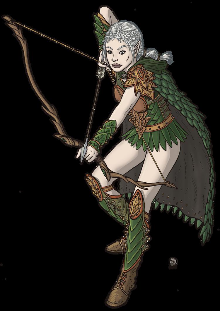 Elven Ranger by Domigorgon