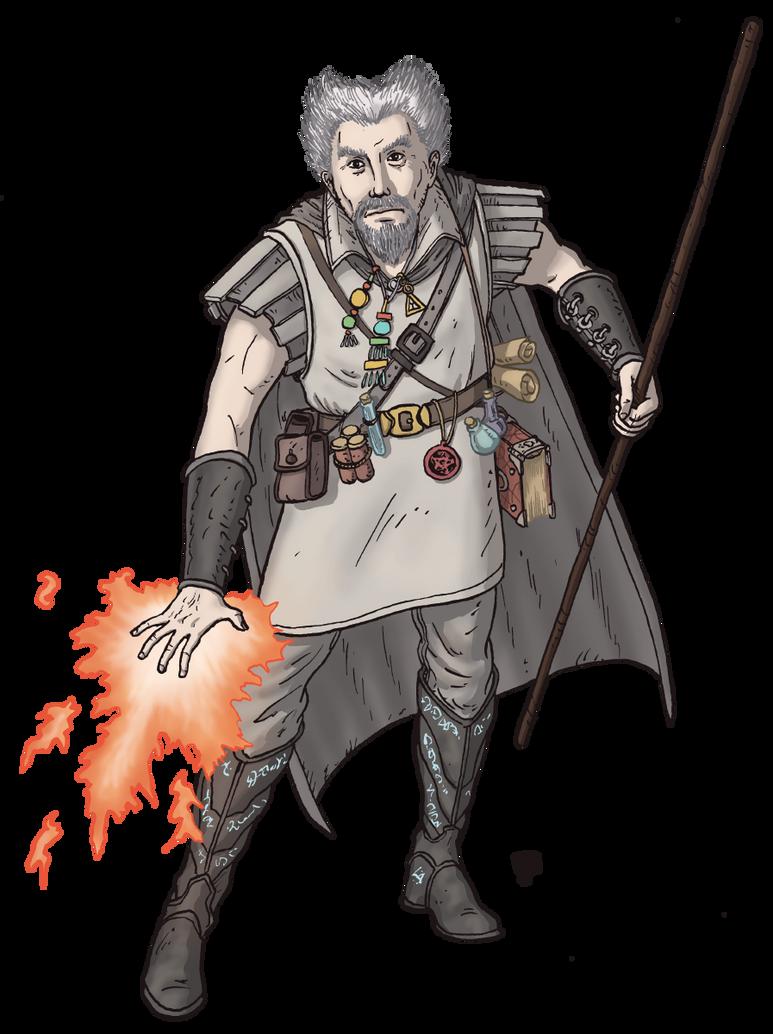Human Wizard by Domigorgon