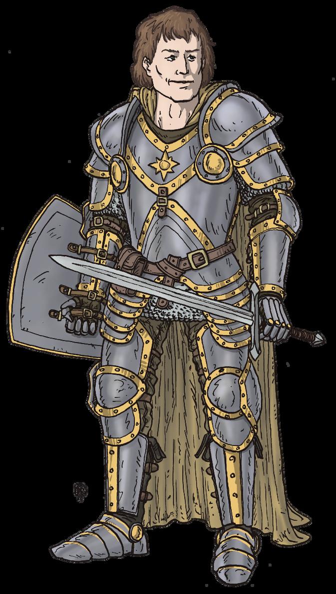Human Paladin by Domigorgon