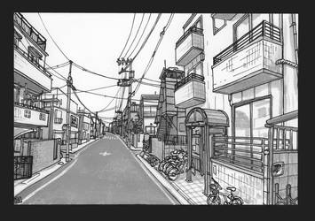 Street View 2 - Tokyo by Domigorgon