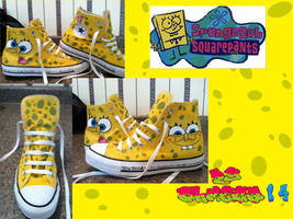 Spongebob Converse by oHmega14
