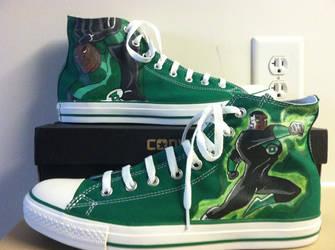 Green Lantern Converse by oHmega14