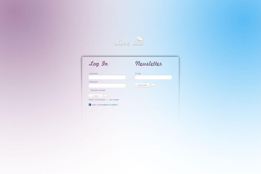 Pretty Login and Newsletter by CarlosViloria
