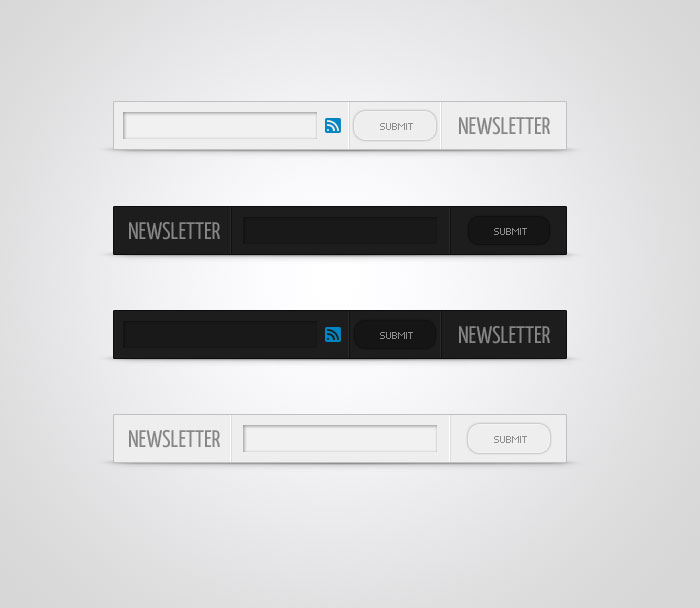 Newsletter Sign-up Form - PSD by CarlosViloria