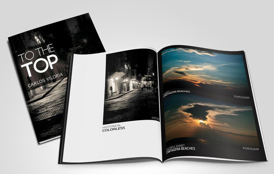 Magazine Mockup PSD - Freebie by CarlosViloria