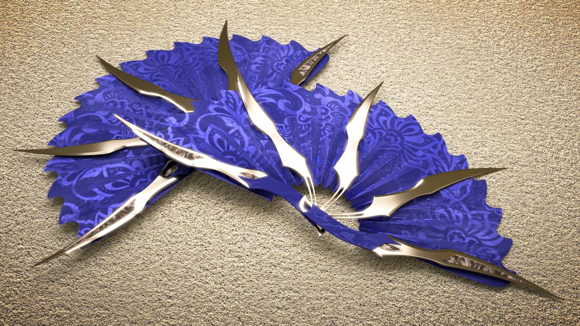 Bladed Fan Weapon : Kitana war fan by petereszenyi on deviantart