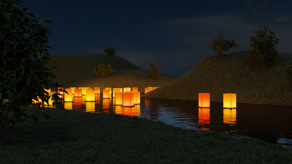 River lanterns by petereszenyi