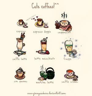 Cute world of coffees!