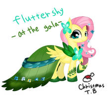 Flutter Shy at the gala by KORchristmas