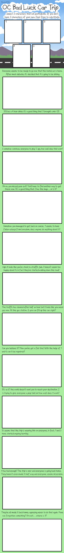 OC Bad Luck Car Trip: Blank Meme