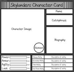 Skylanders Character Card: Blank Meme