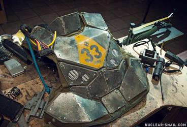 Dystopian Tactical Sci-Fi Armor Nr. 33, WIP by NuclearSnailStudios
