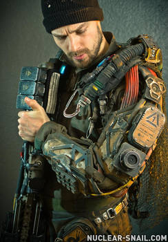 Planetary Defense Exoskeleton Soldier