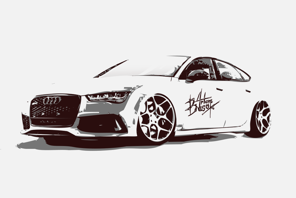 Audi RS7(Vector), photoshop. Drawn by Artem Basok by ...