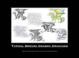 Typical Bronze Dragon Drawings