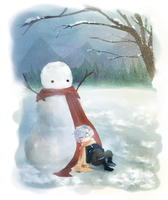 Good Morning Snow Friend by kommoyThyhiru