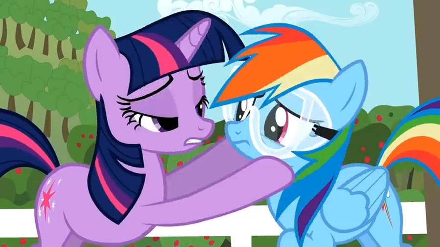 Rainbow Dash Kissing Twilight Twilight x Rainbow Dash by