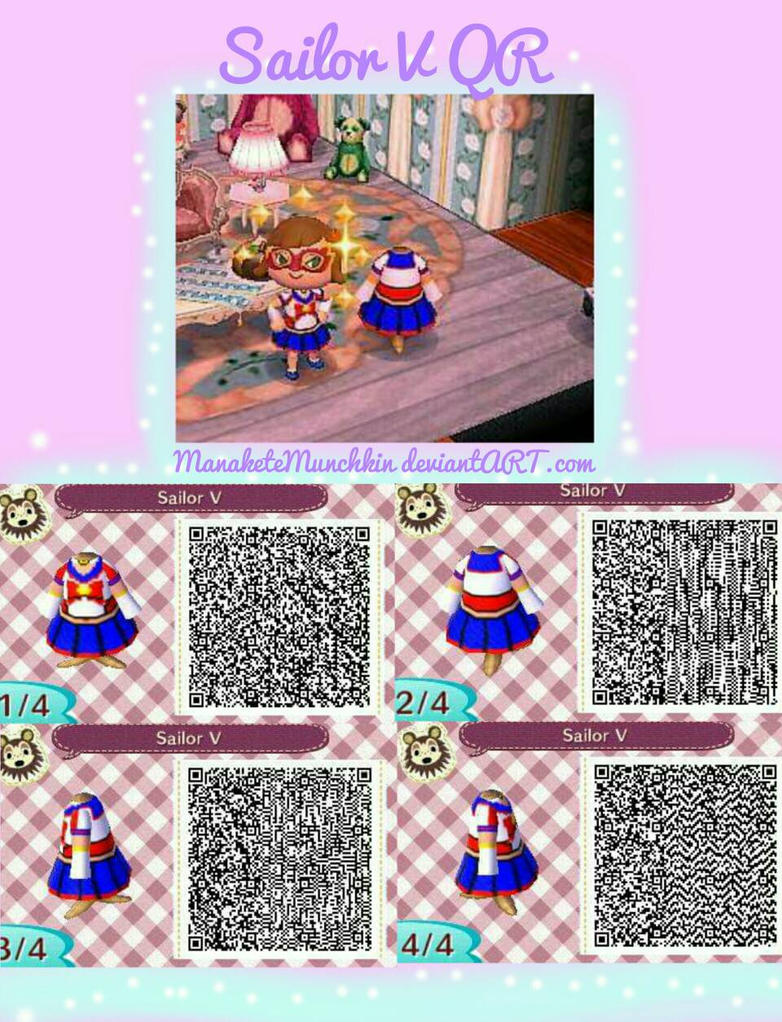 Animal Crossing: New Leaf- Sailor V QR Design by Star-Munchkin on ...