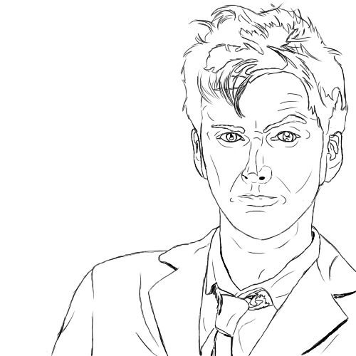 10th Doctor Lineart By Perrikara On DeviantArt