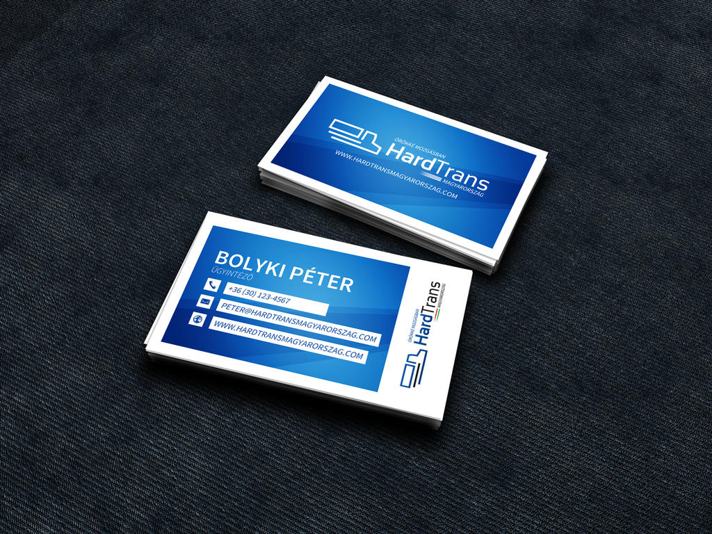 Business card design for trucking company by NightworldDesign on ...