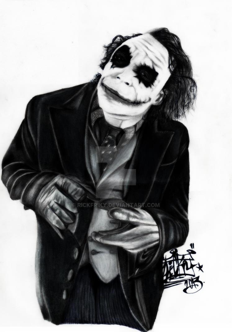 The Joker Draw By Rickfriky On Deviantart Wallpaper  Gallery How To Draw  The Joker By