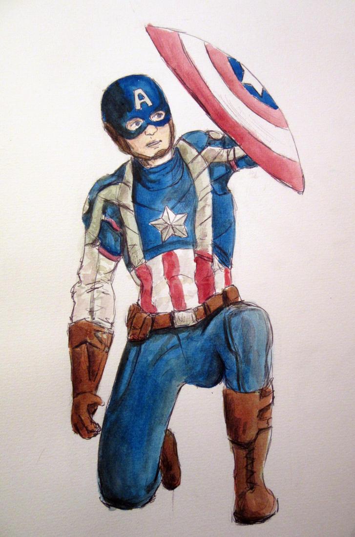 Captain America by Raagane