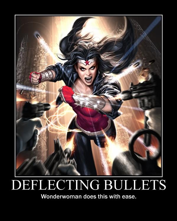 Wonderwoman dodging bullets by TopcowImage2dF