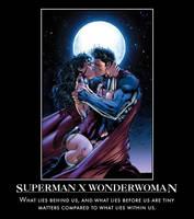 Superman X Wonderwoman by TopcowImage2dF