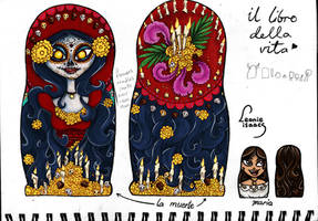 Designs for The Book of Life nesting dolls 2 by LeonieIsaacs