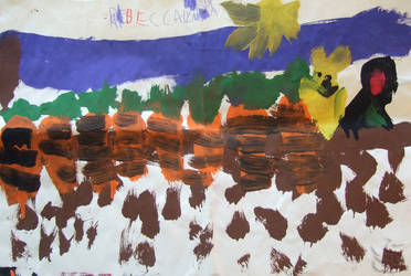 Carrot Field (Age 5) by WolfenAmphithere