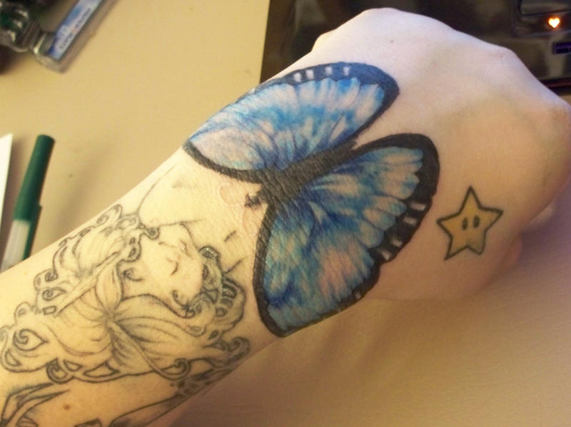 Blue morpho butterfly tattoo - photo#12