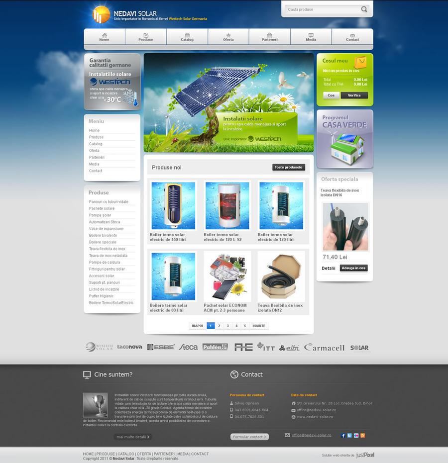Nedavi Solar - Panouri solare by justpixelweb
