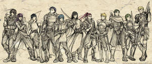 Fire Emblem Faves - Males by Meibatsu