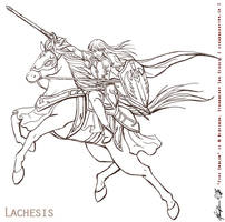 Fire Emblem - Lachesis bw by Meibatsu