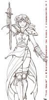 Fire Emblem - Celica bw by Meibatsu
