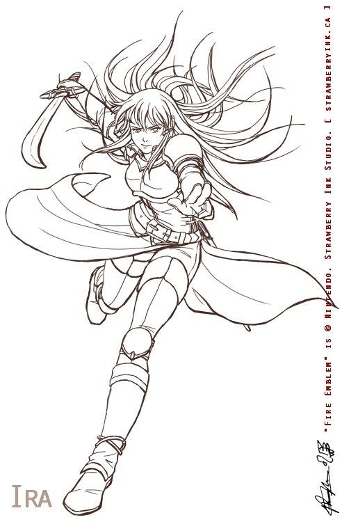 Fire Emblem - Ira bw by Meibatsu