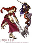 Fire Emblem Titania and Mia by Meibatsu