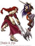 Fire Emblem Titania and Mia
