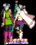 Dysta - student and sensei by Meibatsu