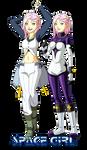 Space Girl - princess and hero by Meibatsu